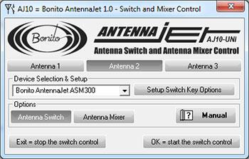 AntennaJet ASM300 Software