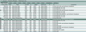 RadioCom 6 Frequenzliste