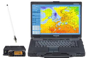 MeteoCom 6 mit Noteboom und ICOM Receiver