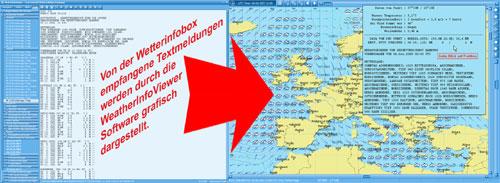 WeatherInfoViewer konvertiert die einfachen Textmeldungen des DWD zu grafisch animierent Bilderserien