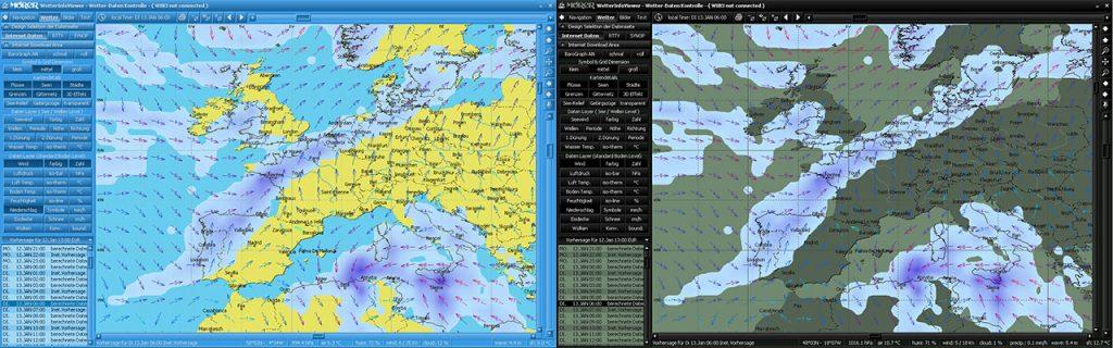 WeatherInfoViewer Farbschema Tag und Nacht